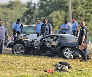 Corvette Chase - Crash & Burn Photos