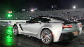 2015 C7 Corvette Stingray Z06 first quarter mile run