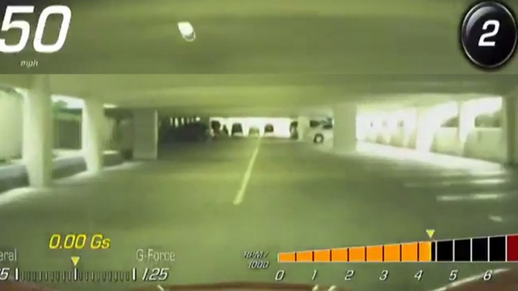 Busted Valet Hits 50 MPH In Parking Garage In A 2015 Corvette Stingray