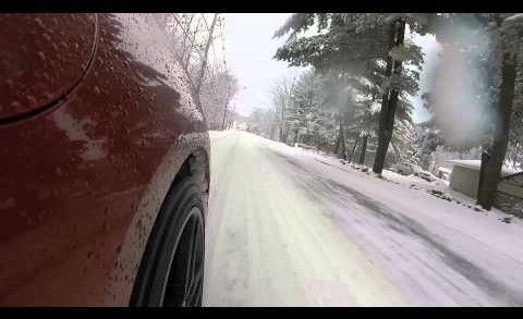 Driving a 2015 Chevrolet Corvette in the Snow