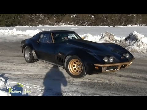 Crazy C3 Corvette Stingray on Ice!