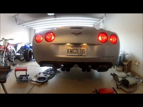 Borla Atak Exhaust Before and After – C6 Corvette
