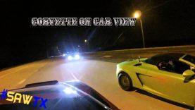 2015 Chevy Corvette Stingray vs Lamborghini Gallardo in a STREET RACE