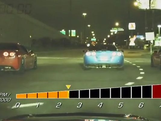 Caught on video: Alleged Corvette street racers in Harris County, Texas