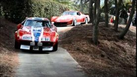 Corvette Race Cars enter the Amelia Island Concours