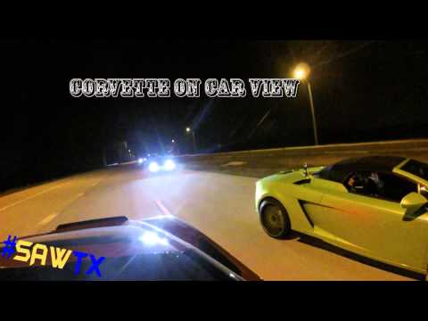 2015 Chevy Corvette Stingray vs Lamborghini Gallardo in a STREET RACE