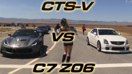2015 Corvette Z06 Convertible vs modded Cadillac CTS-V