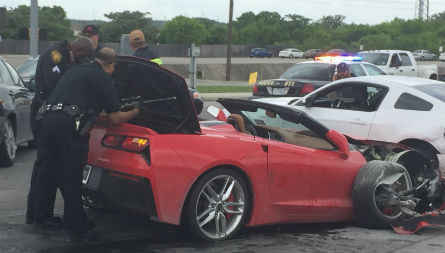 Suspected carjacker leads police on high-speed chase in a C7 Corvette