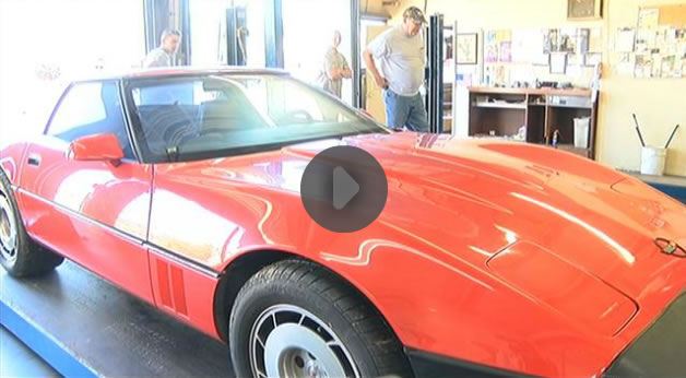 Investigators say Corvette fire at Evansville Indiana oil change business was arson