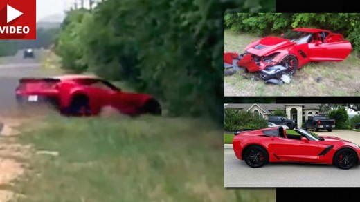 Brand New C7 Corvette Z06 Smashes Into Trees