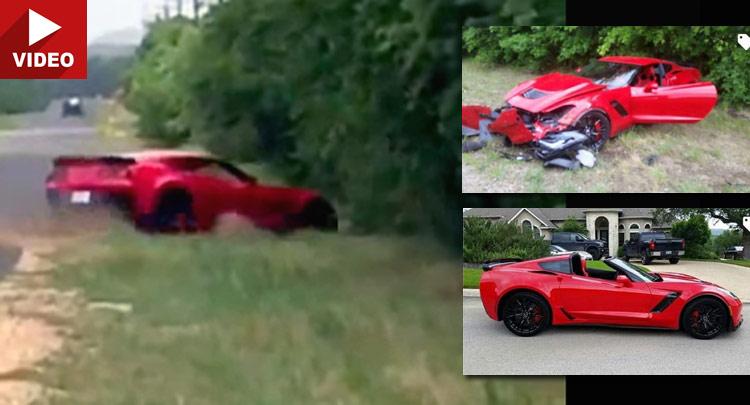 Brand New C7 Corvette Z06 Smashes Into Trees