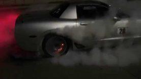 Huge C5 Corvette burnout. Brakes catch on fire