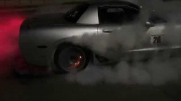 Huge C5 Corvette burnout. Brakes catch on fire