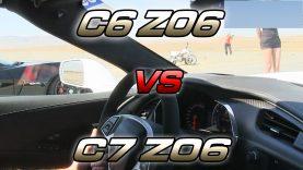 2015 C7 Chevrolet Corvette Z06 Drag Races C6 Corvette Z06