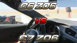 2015 C7 Chevrolet Corvette Z06 Drag Races C6 Corvette Z06