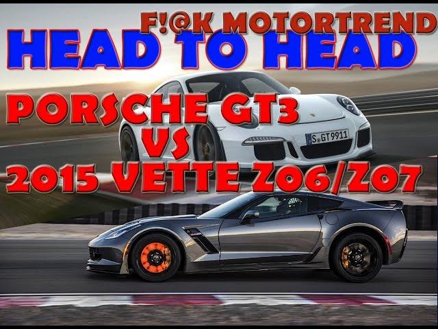 Corvette Z06 Vs Porsche GT3 HEAD 2 HEAD – MotorTrend