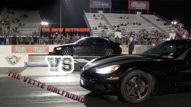 Corvette Girlfriend Beats BMW Boyfriend in Drag Race