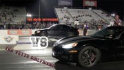 Corvette Girlfriend Beats BMW Boyfriend in Drag Race