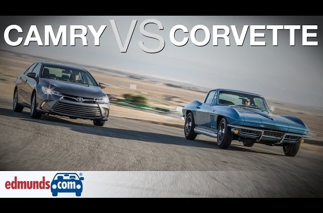 1966 Corvette vs Toyota Camry | Classic American Sports Car Against a Modern Midsize Sedan