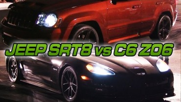 Supercharged Jeep SRT8 vs C6 Z06