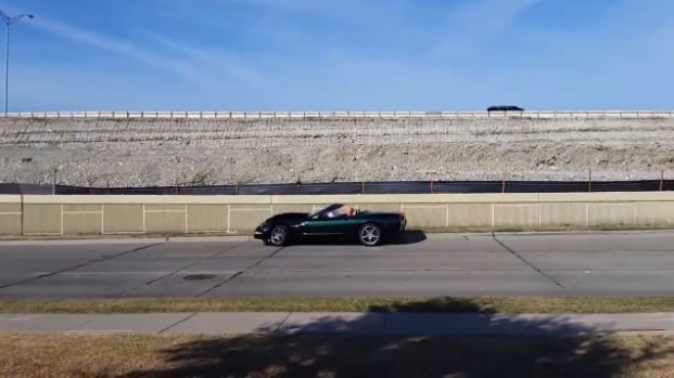 C5 Corvette Crashes into Wall