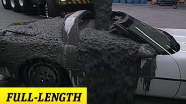 "FULL-LENGTH – Raw – ""Stone Cold"" pours cement into Mr. McMahon's Corvette"