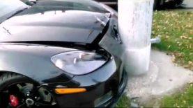 Corvette vs Ford, injury accident