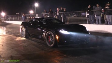 Killer C7 Z06 Corvette Blasts into the 9.80s!