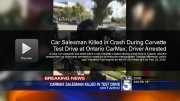 Car salesman killed in crash during Corvette test drive