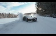 Winter drift fairytale: Toyota Supra goes against Corvette Z06