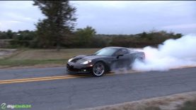 One of the Smokiest C6 Corvette Z06 Burnouts You'll Ever See!