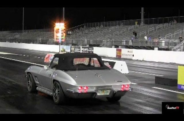 LS7 427 powered 1967 Corvette Convertible 1/4 mile Drag Video