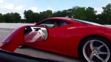 590HP Ferrari 458 vs Corvette C7 Z06 On The Highway