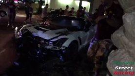 Corvette Z06 Filmed Crashing Into Tree While Leaving Scottsdale Car Meet