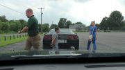 Cop orders man out of his Corvette and onto his knees
