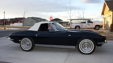 Daytona Blue 1963 Corvette Convertible Stolen in Helena, Montana