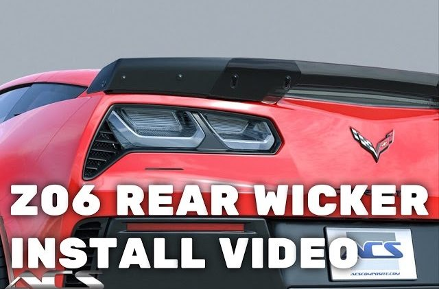 Corvette C7 Z06 Rear Spoiler Wicker Install Video