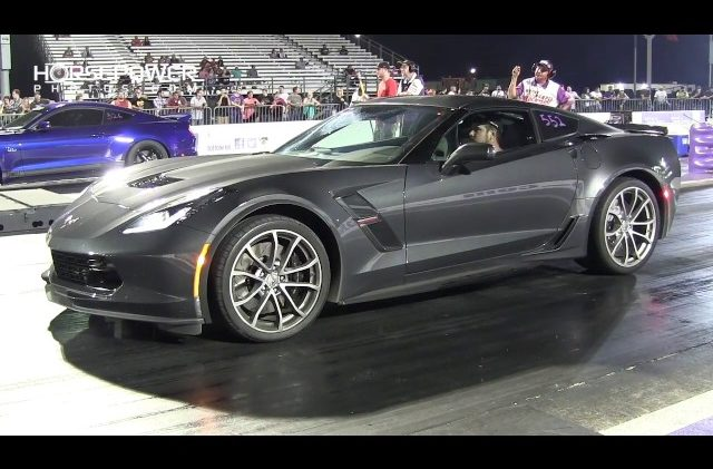 2017 Grand Sport C7 Corvette vs Modified Mustang S550