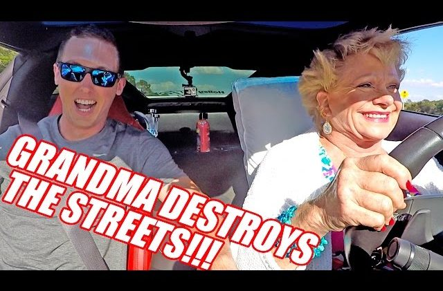 Grandma Drives 900hp Corvette! BURNOUTS and PULLS!