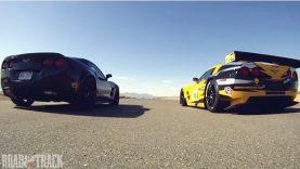 Corvette Drag Race: Corvette C6.R vs Corvette ZR1