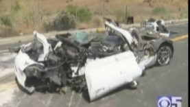 High Speed Corvette Crash in Castro Valley, CA