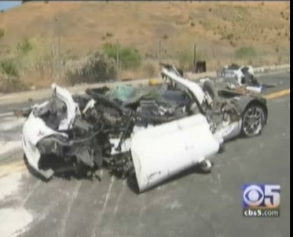 High Speed Corvette Crash in Castro Valley, CA