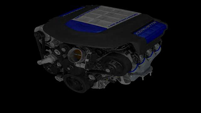 Corvette ZR1 LS9 Engine Build Animation