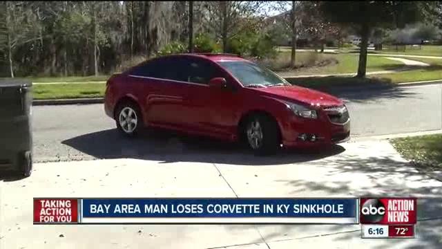 Bay area man loses Corvette in Kentucky museum sinkhole