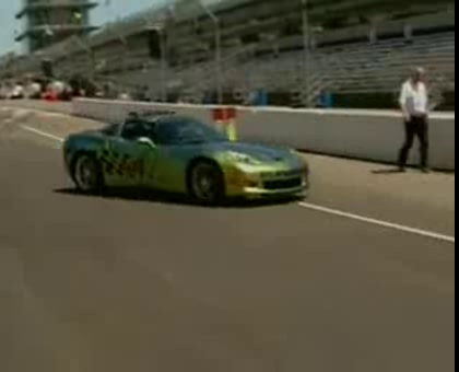 2008 Indy 500 Corvette Z06 Goes Green
