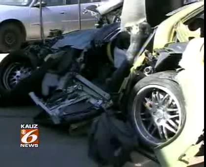 Fatal Corvette Crash on Fort Worth in Texas