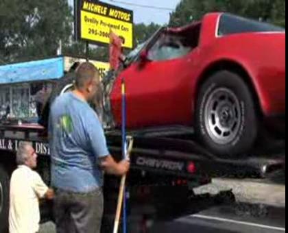 C3 Corvette Involved in a Collision