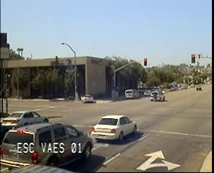 Red Light Runner Takes Out a Corvette