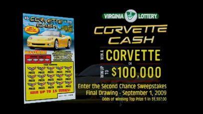 Virginia Corvette Cash Lottery Commercial