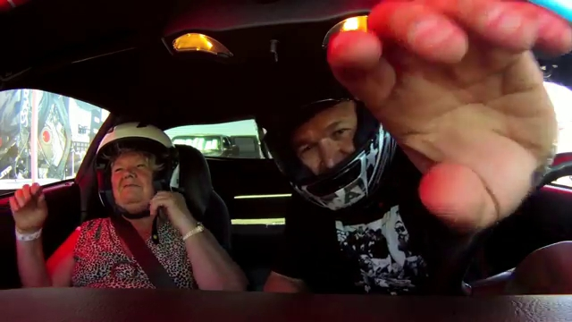 Freaked out mom get tossed around track by Corvette Z06 – driving Son